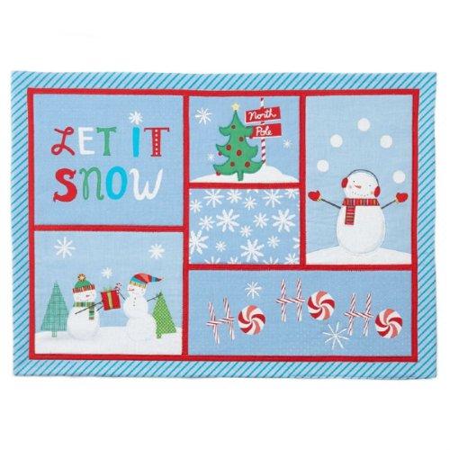 St Nicholas Square Christmas Snowman Patchwork Placemat