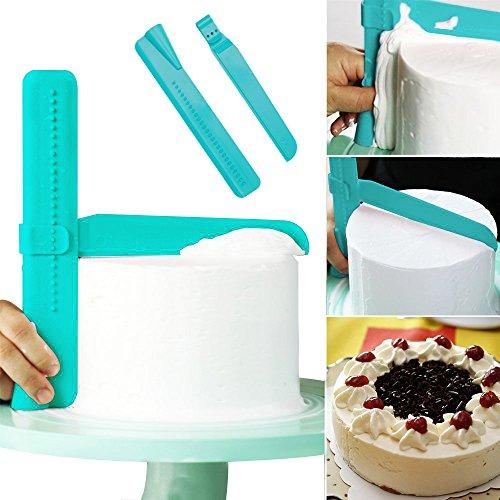 LetGoShop Adjustable Cake Scraper Smoother Fondant Cream Spatula Cake Edge Side Decorating Tools for DIY Christmas Baking Wedding Birthday Cake Mold