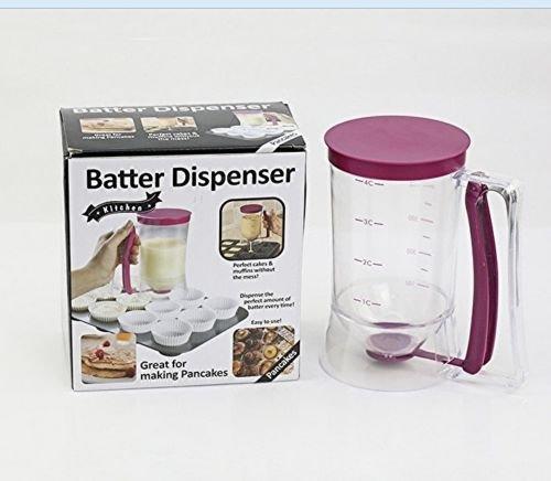 Safstar Pancake Batter Dispenser Cupcake Baking Tool Muffin Waffles Jug Pastry Cup Mix