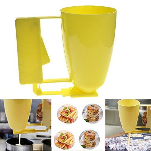 Toyofmine Pancake Batter Dispenser Cupcake Waffles Mix Muffin Baking Tool Plastic Hand