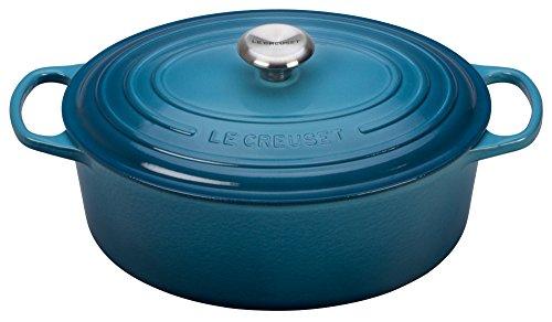 Le Creuset Signature Enameled Cast-Iron 675 Quart Oval French Dutch Oven Marine