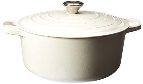 Le Creuset Signature Enameled Cast-Iron 7-14-Quart Round French Dutch Oven White
