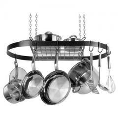 Range Kleen Black Oval Pot Rack cw6000 -