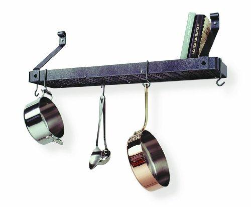 Enclume Premier Deep Bookshelf Wall Pot Rack Hammered Steel