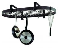 Enclume Premier Low Ceiling Oval Pot Rack Stainless Steel