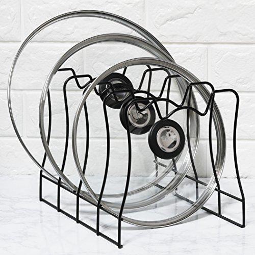 SimpleHouseware Kitchen Pot Lid Rack Holder Organizer Bronze