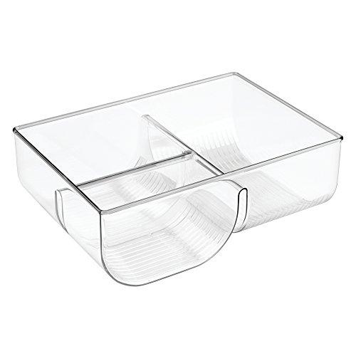 InterDesign Linus Lid Organizer for Kitchen Cabinet Pantry Storage - Clear