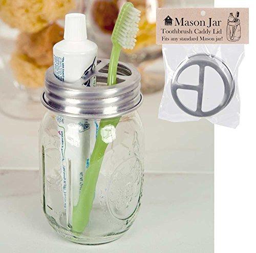Colonial Tin Works Mason Jar Toothbrush Holder Lid