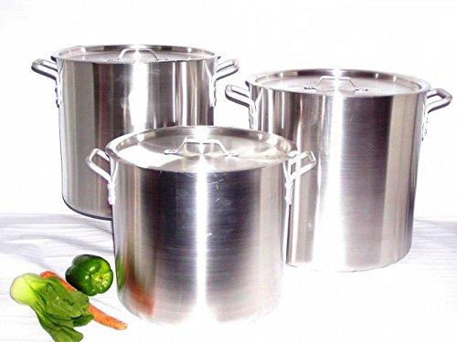 Uniware Heavy Gauge Aluminum Sauce Pot Set 6 Pcs Set24 32 40 Qt