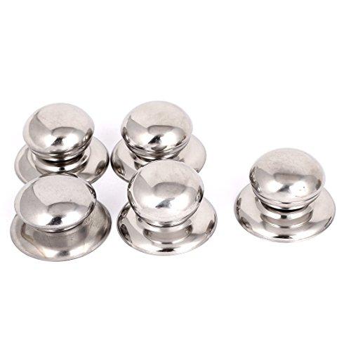 Metal Cookware Pan Pot Glass Lid Cover Handle Knob Handgrip Grip 5pcs