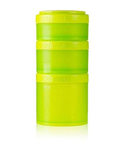 BlenderBottle ProStak Expansion 3 Pak Full Green Blender Bottle Starter