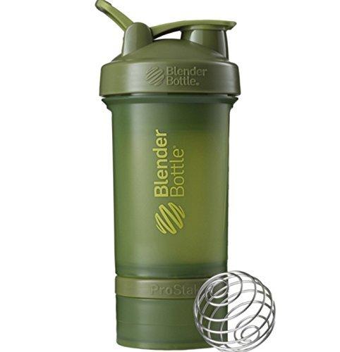 ProStak 22 oz BlenderBottle Full Color 2 Jar  100cc  150cc MOSS GREEN COLOR