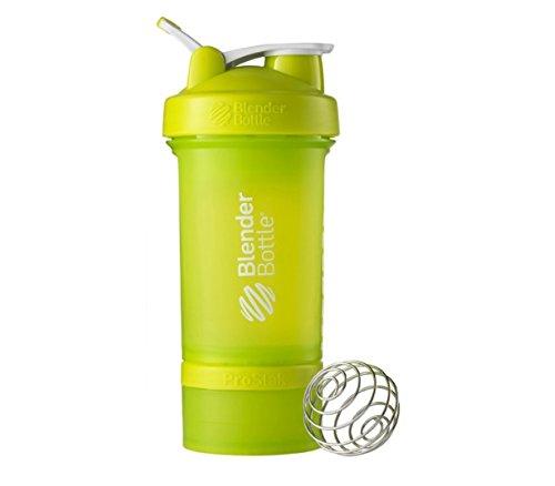 Blender Bottle ProStak System with 22 oz Shaker and Twist N Lock Storage Health Fitness Green