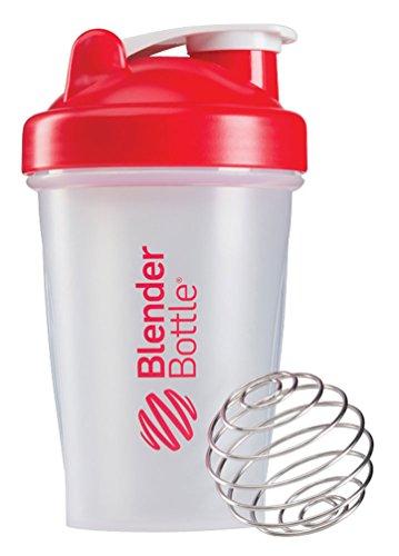 BlenderBottle Classic Shaker Bottle ClearRed 20-Ounce