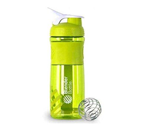 BlenderBottle SportMixer Protein Shaker Cup 28 oz Blender Bottle Sport Mixer Health Fitness Green