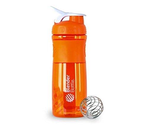 BlenderBottle SportMixer Protein Shaker Cup 28 oz Blender Bottle Sport Mixer Health Fitness Orange