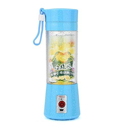 Tiean Portable USB Electric Fruit Juicer Smoothie Maker Blender Bottle Juice Shaker Blue