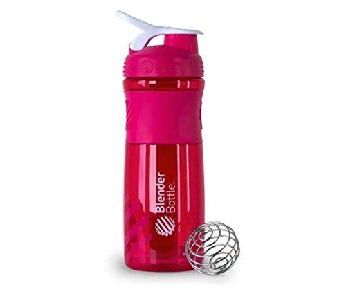 BlenderBottle SportMixer Protein Shaker Cup 28 oz Blender Bottle Sport Mixer Health Fitness Pink