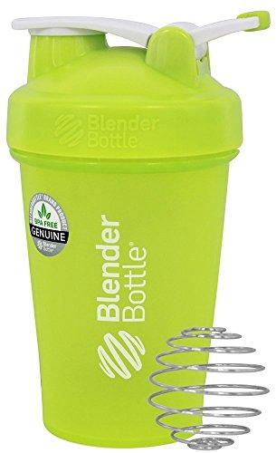 Blender Bottle - Classic Shaker Bottle with Loop Full-Color Green - 20 oz By Sundesa