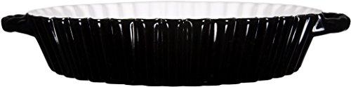 """Ceramic Stoneware Pie Plate ~ Ceramic Apple Pie Dish ~ Quiche & Tart Ceramic Baker Pan ~ Ribbed Design ~ 10"""" D"""