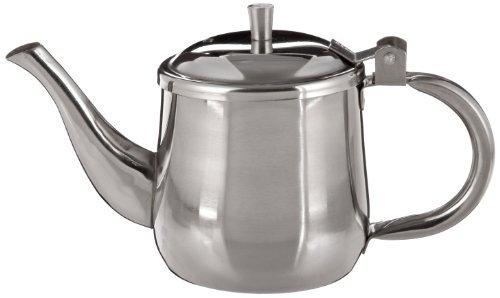 Adcraft GNP-10 10 oz Capacity Heavy Stainless Steel Gooseneck Teapot