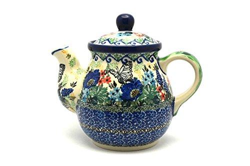 Polish Pottery Gooseneck Teapot - 20 oz - Unikat Signature - U4600