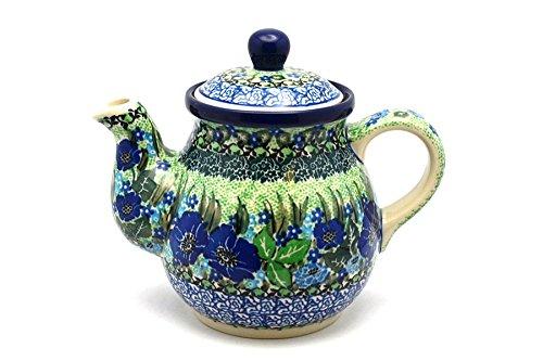 Polish Pottery Gooseneck Teapot - 20 oz - Unikat Signature - U4629