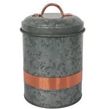 Galvanized Copper Small Canister