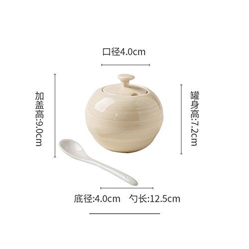 Small spice jarsCeramic coffee canister Ceramic canisters Spice organizer Ceramic container with lid Ceramic spice jars-B
