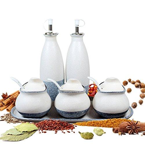 Small spice jarsCeramic container with lid Ceramic coffee canister Cookie jar Ceramic storage jars Ceramic Cookie jar-A
