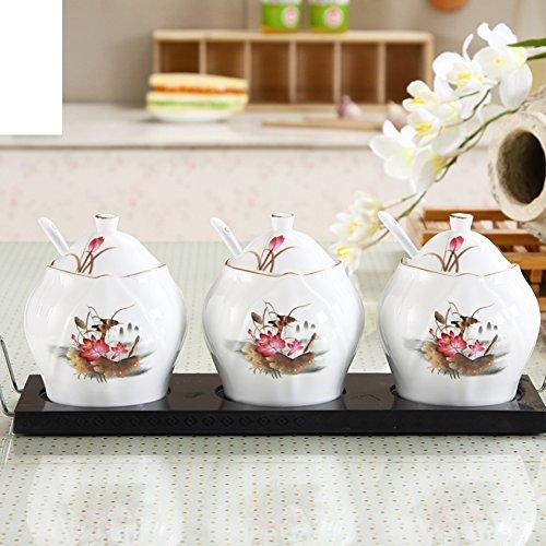 Spice jarsCeramic canisters Ceramic coffee canister Ceramic jar Spice organizer-A