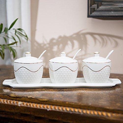 Spice jarsSpice organizer Ceramic storage jars Ceramic jar with lid Ceramic coffee canister Small jars-A