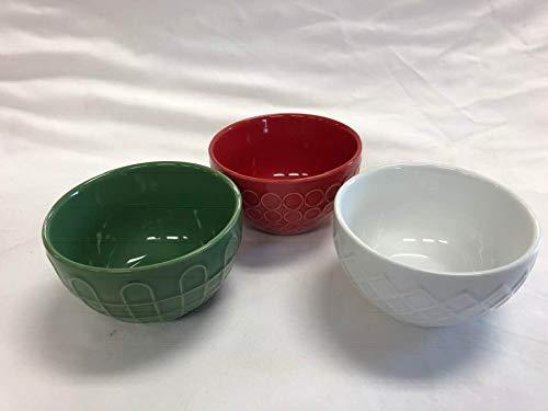 Holiday Prepsauce bowls set of 3