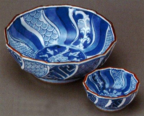 SYOUZUI Jiki Japanese traditional Porcelain SASHIMI Plate and Soy-sauce bowl Set of 5