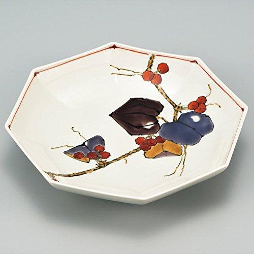Japanese Ceramic Porcelain kutani ware Serving dish Salada plate Flower Japanese ceramic Hagiyakiya 207