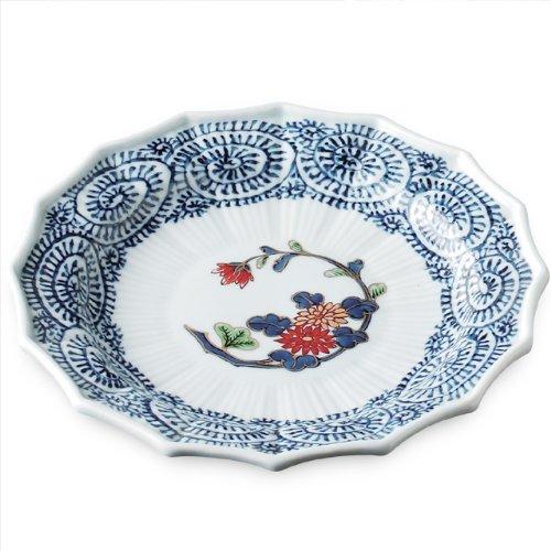 Japanese Porcelain Dish93inch Arita-ware Ryoushugama Ko-imari Mikomigiku Hassunzara