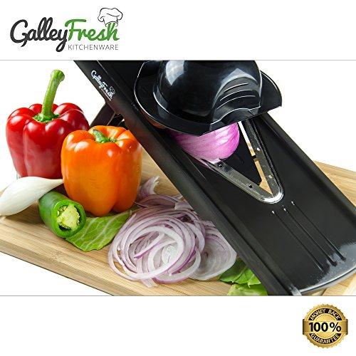 Galleyfresh Kitchenware Professional V-slicer, Mandoline Slicer, Food Chopper, Fruit & Vegetable Cutter, 7 Piece