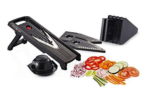 Slice&cook Premium Mandoline Slicer - Holidays Sale! - Mandoline V-slicer - Vegetable Slicer - (black) 5 Different