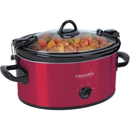 Crock-Pot 6-Quart Cook Carry Manual Slow Cooker - Red