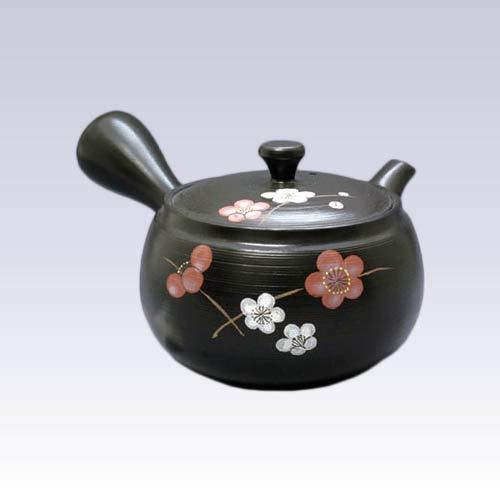 Tokyo Matcha Selection - Tokoname Kyusu teapot - TAKEHARU - Red White Plum - 380ccml - OBI ami Steel net Standard Ship by SAL NO Tracking Number Insurance