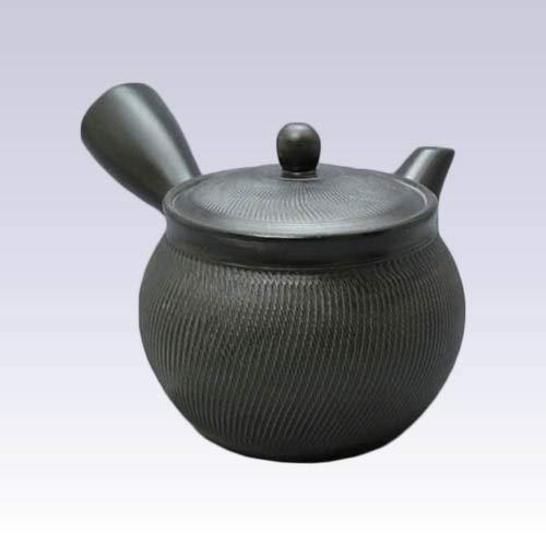 Tokyo Matcha Selection - Tokoname Kyusu teapot - Akira - Black - 460ccml - Stainless Steel net Standard Ship by SAL NO Tracking Number Insurance