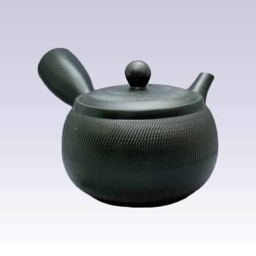 Tokyo Matcha Selection - Tokoname Kyusu teapot - Akira - Black - 650ccml - Obal ami Stainless Steel net Standard Ship by SAL NO Tracking Number Insurance