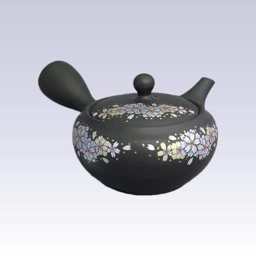 Tokyo Matcha Selection - Tokoname Kyusu teapot - SHOHO - Sakura - 350ccml - Ceramic mesh Standard Ship by Intl e-Packet with Tracking Number Insurance