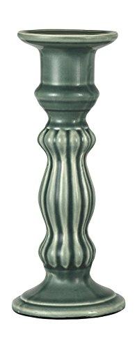 True Grit Fine Ceramic Round Base Vintage Tall TaperPillar Decorative Candlestick Holder 9 58 Height x 4 Width