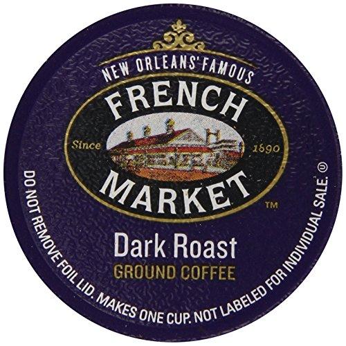French Market Coffee Single Serve Cups Dark Roast 12 Count