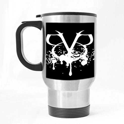 Black Veil Brides Customized Custom Design Silver Color Stainless Steel Travel Mugs Sports Bottle Coffee Mugs Office Home Cup 14 OZ One Sides Printed