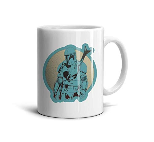 SweaterWg7 Personalized Tea Mugs The-Mandalorian-Action-Figure- White Ceramic Souvenir Reusable Espresso Mugs 11 Oz Office Porcelain Mugs