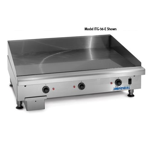 Imperial Commercial Griddle Thermostat Controlled Heavy Duty 24 2 Element Electric Model Itg-24-E