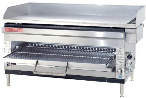 Grindmaster-Cecilware HDB2031-NAT Natural Gas Stainless Steel GriddlesCheese Melter 60000 BTUsHour