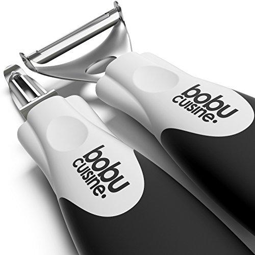 Bobucuisine Super Peeler Set - Stainless Steel Double-edged Blades - Triple Your Peeling Speed - Sharp Y Shaped